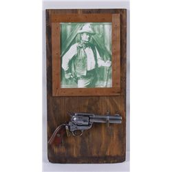 John Wayne Replica Six Shooter & Display Shelf