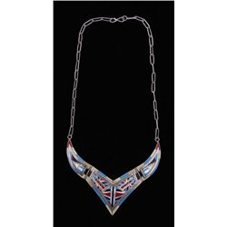 Zuni Ladies Inlaid Choker Necklace