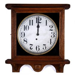 Antique Ingraham Oak Cased Wall Clock