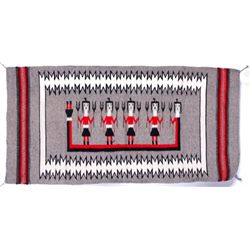 Navajo Warrior Red, Gray, & Black Rug
