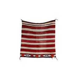Navajo Red & White Striped Saddle Blanket