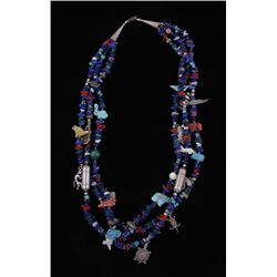 Native American 3 Strand Fetish Necklace