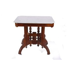 Eastlake Marble Top Parlor Table