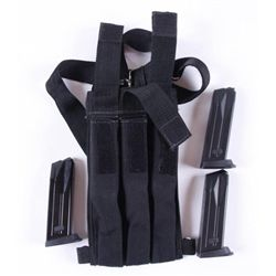 Lot of 5 H&K USP Mags w/Shoulder Carry Case