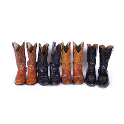 Collection of 4 Pair of Cowboy Boots