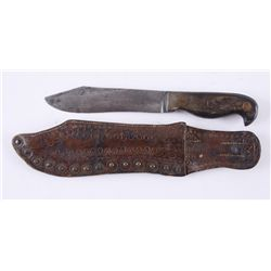 Unmarked 19th Century California Style Bowie Knife