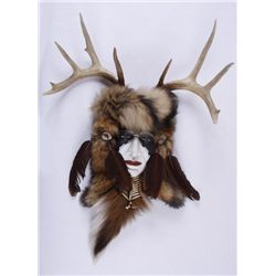 Native American Wall Hanging with Deer Antler