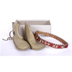Ladies Modern Moccasins and Beaded Belt