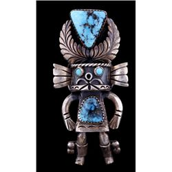 Large Kachina Ring with Turquoise Cabs