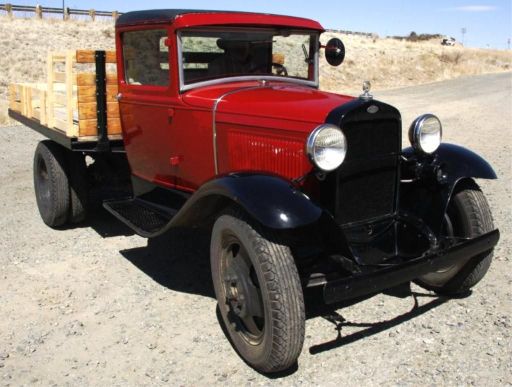 Image 3 1931 apple red ford model aa flatbed with duals