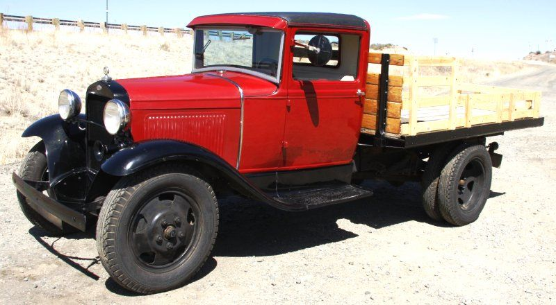 Image 5 1931 apple red ford model aa flatbed with duals