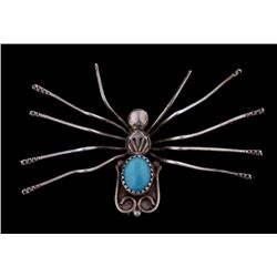 Spider Pin with Turquoise