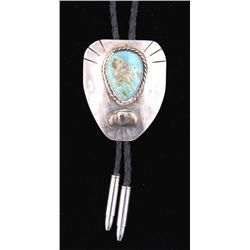 Turquoise & Sterling Bolo Tie