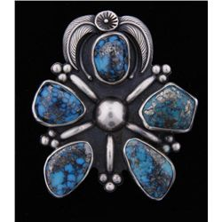 Drop Pendant with 5 Quality Turquoise Cabs