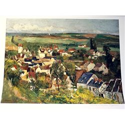 Limited Edition Cezanne- View From Auvers From Above - Collection Domaine Cezanne