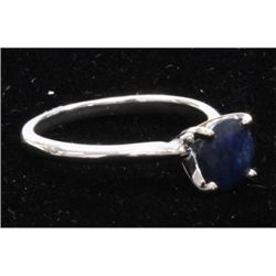 Natural 2.25ctw Sapphire .925 Sterling Silver Ring