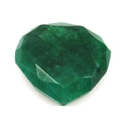African Emerald Loose Gems 31.8ctw Semi Heart Cut