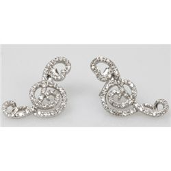 Natural 4.89g CZ Earrings .925 Sterling Silver