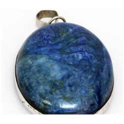 Natural 143.37 ctw Semi Precious .925 Sterling Pendant