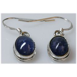 Natural 16.05 ctw Tanzanite .925 Sterling Earring