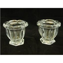 Pair Baccarat relish dishes