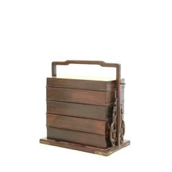 19th c. Chinese Zitan 5 tiered picnic box