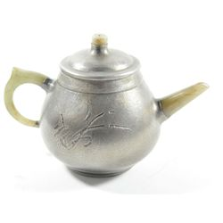 Zhia Sha teapot with silver & jade handle