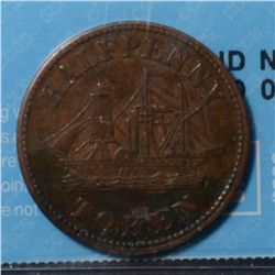 Breton # 921, Charlton # PE-8A2, CCCS EF-40. Fisheries & Agriculture Halfpenny.