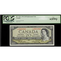 Bank of Canada; 20 Dollars 1954, BC-41bA, PCGS UNC-62 PPQ, Replacement *AE0032992.