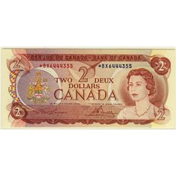 Bank of Canada; 2 Dollars 1974, BC-47aA, PCGS UNC-65 PPQ, Replacement *BX6444355.