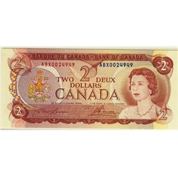 Bank of Canada; 2 Dollars 1974, BC-47aA-i, PCGS UNC-66 PPQ, Replacement ABX0024949.
