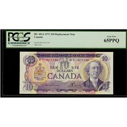 Bank of Canada; 10 Dollars 1971, BC-49cA, PCGS UNC-62 PPQ, Replacement *TL1411126.