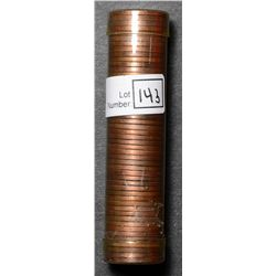 Roll of Cent 1947, BU 50 coins in plastic tube.