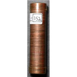 Roll of Cent 1954, BU 50 coins in plastic tube.