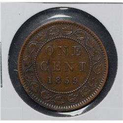 Cent 1859 Narrow 9, Repunched 9 # 2  VF-30.