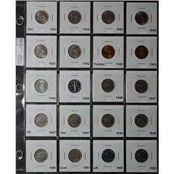 5 Cents 1937 to 1968 including 1942 Nickel & Tombac, 1947 Reg. ML & Dot, 1951 Comm. & Reg., 1953 all