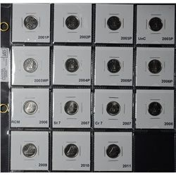10 Cents 1968  to 2011 Coins from rolls and Mint Sets. Lot of 54 coins. Read