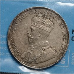 50 Cents 1914, CCCS EF-45; Cleaned.