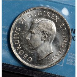 50 Cents 1945 CCCS MS-63 Near Date Pointed 5.