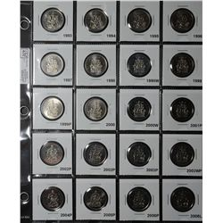 50 Cents 1968 to 2011 including both 1978, both 1982, 1998 & 1998W, 1999 & 1999P, 2000 & 2000W, both