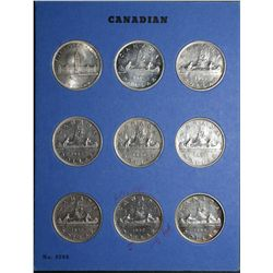 1 Dollar 1939 AU-55 Cleaned to 1967 MS-62 in Whitman Album. Lot of 27 coins. Read