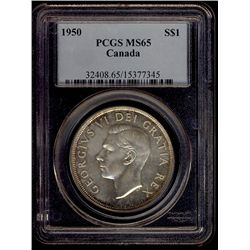 1 Dollar 1950, PCGS MS-65. PQ eye appeal.