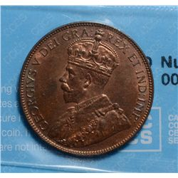 Newfoundland; Cent 1936, CCCS MS-60; Cleaned.