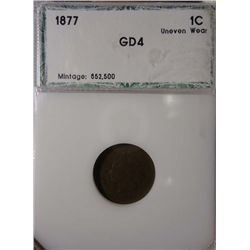 1877 INDIAN HEAD CENT PCI G-4