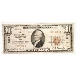 1929 $10 National currency   F/VF Toronto OH