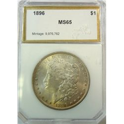 1896 MORGAN DOLLAR PCI MS-65