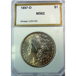 1897-O MORGAN DOLLAR PCI MS-62