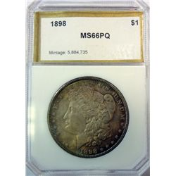 1898 MORGAN DOLLAR PCI MS-66PQ