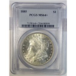 1885 MORGAN DOLLAR PCGS MS-64+