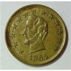 "1864 LINCOLN CIVIL WAR TOKEN ""OK"" ON REVERSE"